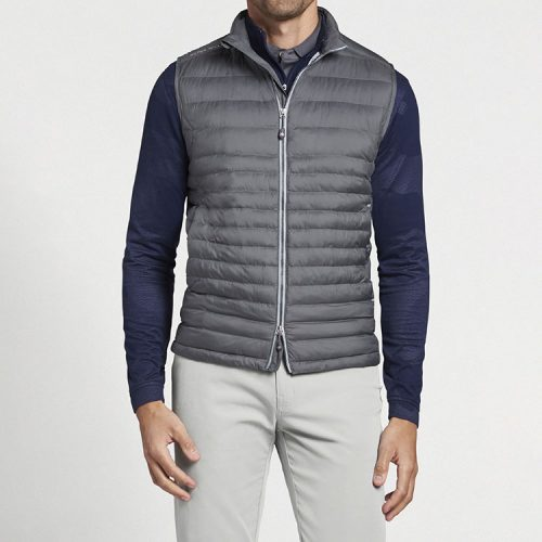 peter-millar-hyperlight-quilted-vest-iron Available online or in store at assembly88 men's shop in Allentown, PA