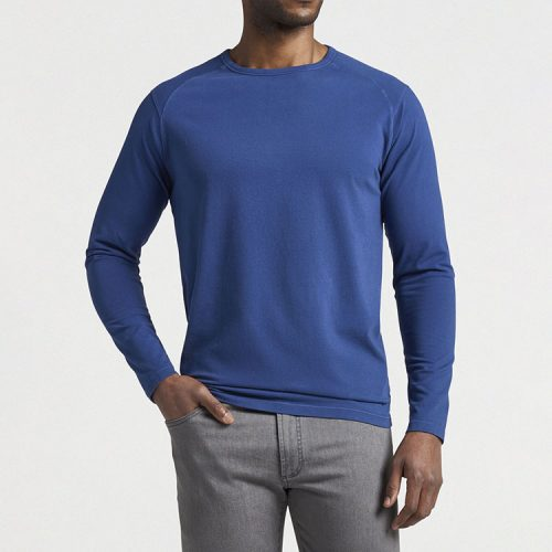 peter-millar-lava-wash-long-sleeve-t-shirt-atlantic-blue Available online or in store at assembly88 men's shop in Allentown, PA
