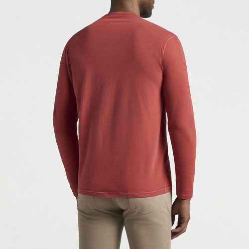 peter-millar-lava-wash-long-sleeve-t-shirt-clay-rose Available online or in store at assembly88 men's shop in Allentown, PA