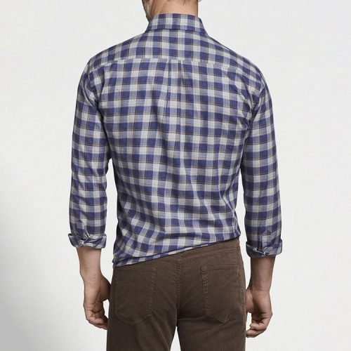 peter-millar-autumn-soft-surrey-cotton-sport-shirt-navy Available online or in store at assembly88 men's shop in Allentown, PA