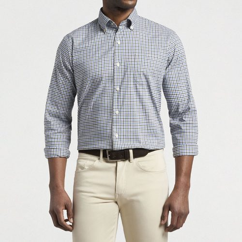 peter-millar-crown-lite-nelson-cotton-sport-shirt-dark-olive Available online or in store at assembly88 men's shop in Allentown, PA