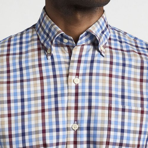 peter-millar-crown-ease-langley-cotton-sport-shirt-white Available online or in store at assembly88 men's shop in Allentown, PA