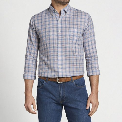 peter-millar-chandler-cotton-sport-shirt-white Available online or in store at assembly88 men's shop in Allentown, PA