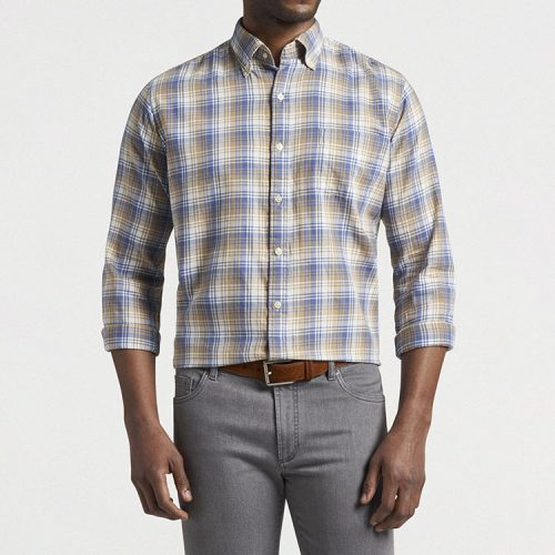 peter-millar-mount-pearl-cotton-sport-shirt-astral-blue Available online or in store at assembly88 men's shop in Allentown, PA