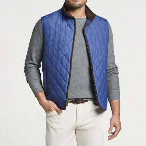 peter-millar-essex-quilted-travel-vest-astral-blue Available online or in store at assembly88 men's shop in Allentown, PA
