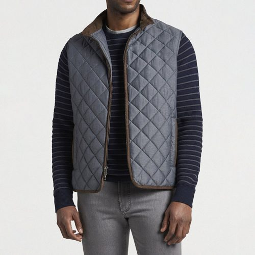 peter-millar-essex-quilted-travel-vest-iron Available online or in store at assembly88 men's shop in Allentown, PA