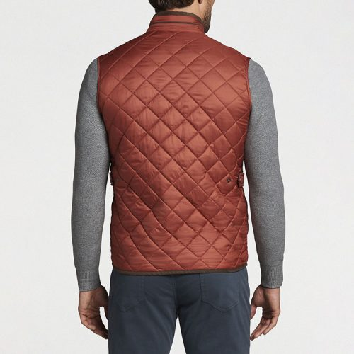 peter-millar-essex-quilted-travel-vest-burnt-orange Available online or in store at assembly88 men's shop in Allentown, PA