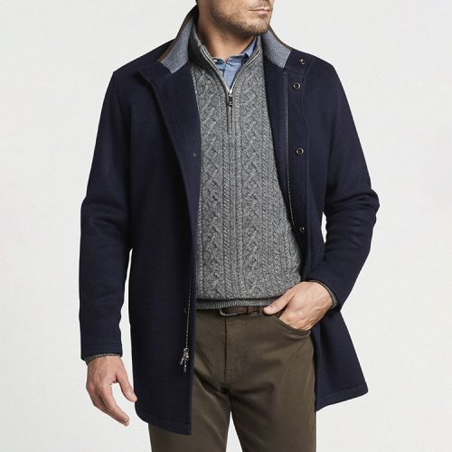 peter-millar-crown-flex-fleece-city-coat-navy Available online or in store at assembly88 men's shop in Allentown, PA