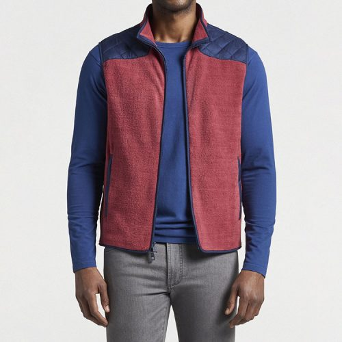 peter-millar-micro-shearling-fleece-vest-amaranth Available online or in store at assembly88 men's shop in Allentown, PA