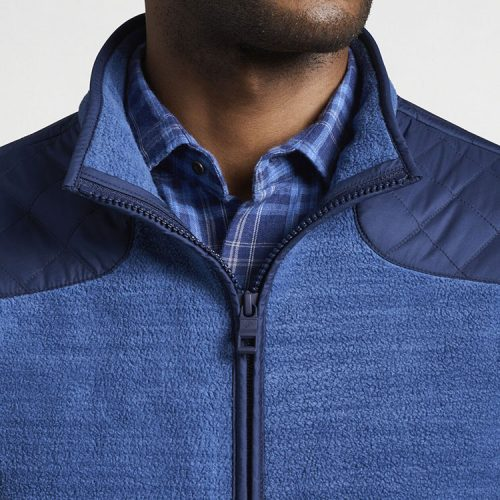peter-millar-micro-shearling-fleece-jacket-astral-blue Available online or in store at assembly88 men's shop in Allentown, PA