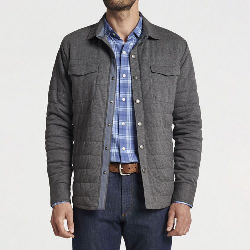 peter-millar-cotton-cashmere-knit-shirt-jacket-gale-grey Available online or in store at assembly88 men's shop in Allentown, PA