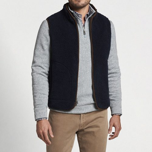 peter-millar-high-pile-sherpa-vest-navy Available online or in store at assembly88 men's shop in Allentown, PA
