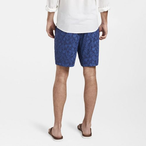peter-millar-palms-poplin-short-navy Available online or in store at assembly88 men's shop in Allentown, PA