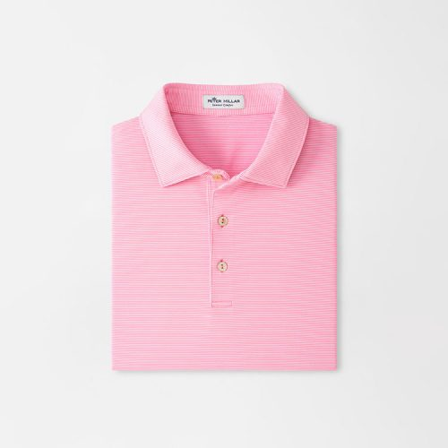 peter-millar-jubilee-stripe-performance-polo-pink-caliente Available online or in store at assembly88 men's shop in Allentown, PA