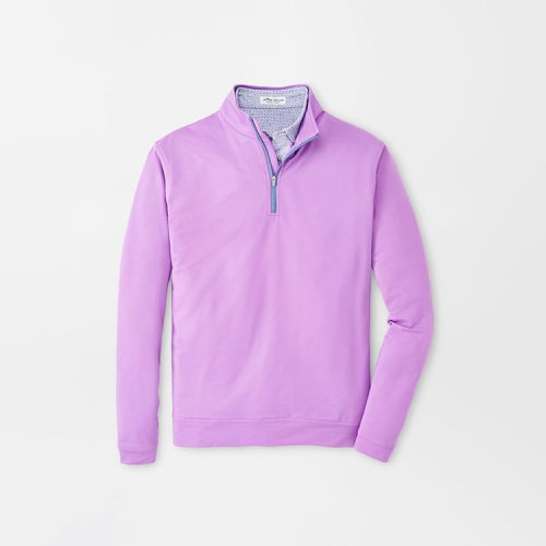 peter-millar-perth-performance-melange-quarter-zip-guava-pink Available online or in store at assembly88 men's shop in Allentown, PA