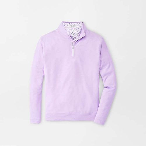 peter-millar-perth-performance-melange-quarter-zip-petal-purple available online or in store at assembly88 men's store in Allentown, PA.