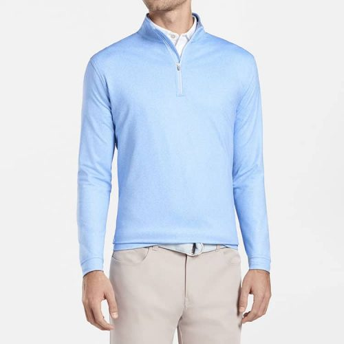 peter-millar-distressed-herringbone-perth-performance-pullover-cottage-blue available online or in store at assembly88 men's store in Allentown, PA.