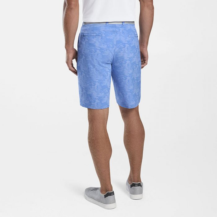 peter-millar-shackleford-camo-performance-hybrid-short-blue-sea Available online or in store at assembly88 men's shop in Allentown, PA