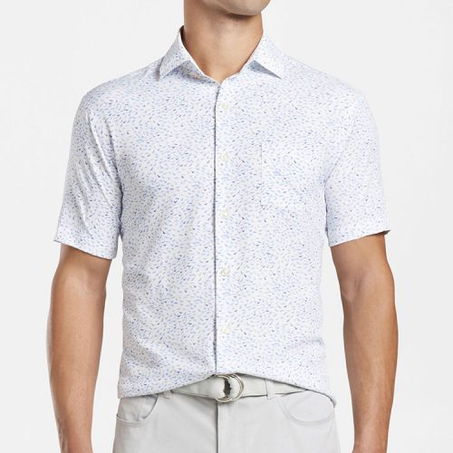 peter-millar-flock-together-performance-short-sleeve-sport-shirt-white Available online or in store at assembly88 men's shop in Allentown, PA