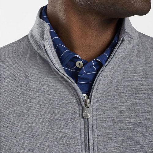 peter-millar-crown-comfort-ottoman-quarter-zip-gale-grey available online or in store at assembly88 men's store in Allentown, PA.