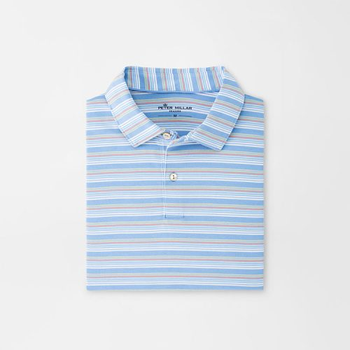 peter-millar-drirelease-natural-touch-stripe-polo-coastal-blue Available online or in store at assembly88 men's shop in Allentown, PA