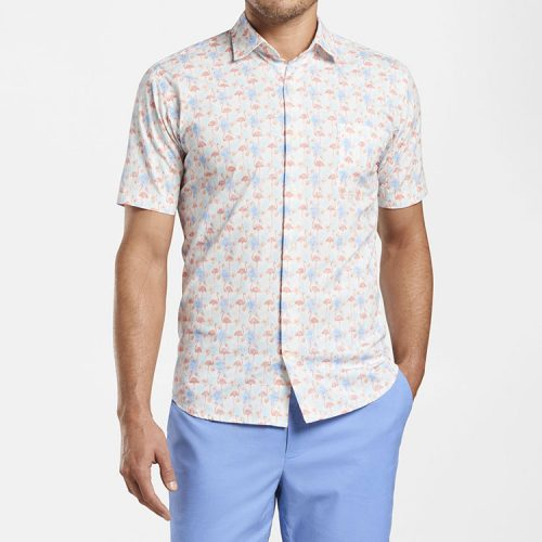 peter-millar-paradise-cotton-blend-sport-shirt-bayside-blue Available online or in store at assembly88 men's shop in Allentown, PA