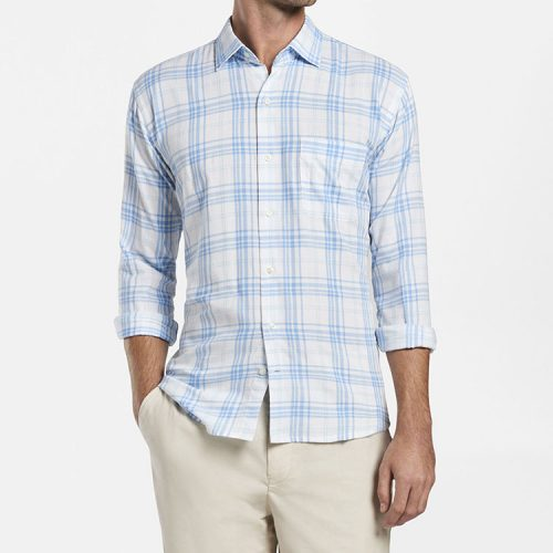 peter-millar-seawater-cotton-sport-shirt-white Available online or in store at assembly88 men's shop in Allentown, PA