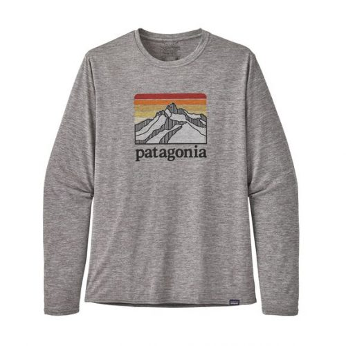 patagonia-long-sleeved-capilene-cool-daily-graphic-shirt-feather-grey Available online or in store at assembly88 men's shop in Allentown, PA