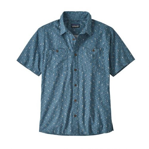 patagonia-back-step-shirt-swamp-stamp-multi-pigeon-blue Available online or in store at assembly88 men's shop in Allentown, PA