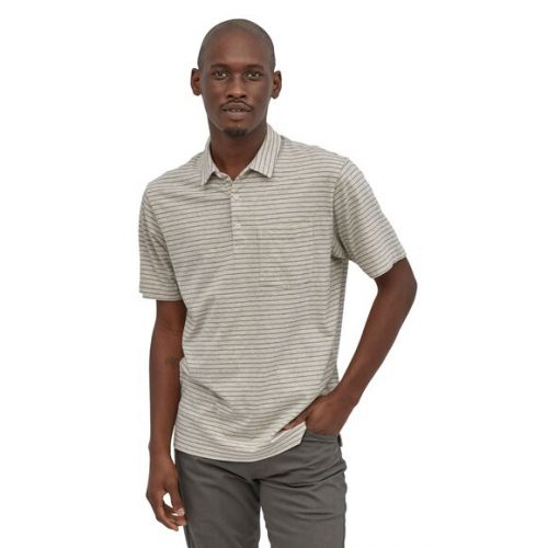 patagonia-organic-cotton-lightweight-polo-wavy-texture-birch-white Available online or in store at assembly88 men's shop in Allentown, PA