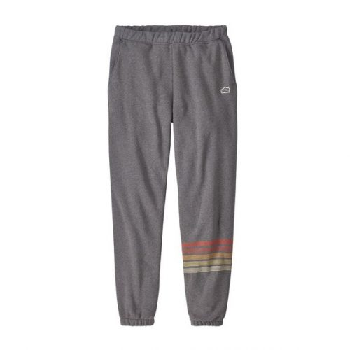 patagonia-line-logo-ridge-stripe-uprisal-sweatpants-gravel-heather Available online or in store at assembly88 men's shop in Allentown, PA