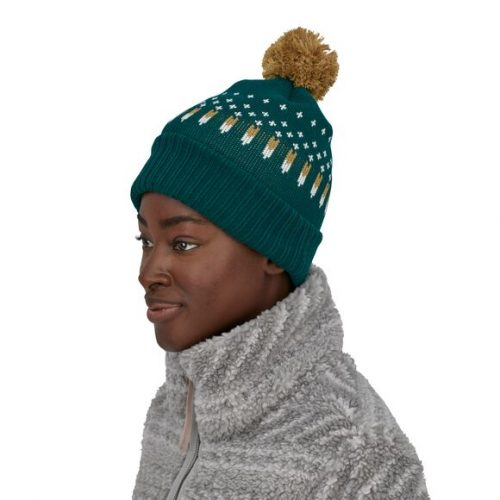 patagonia-powder-town-beanie-snowfall-knit-dark-borealis-green Available online or in store at assembly88 men's shop in Allentown, PA