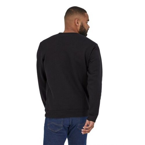 patagonia-p-6-label-uprisal-crew-sweatshirt-black Available online or in store at assembly88 men's shop in Allentown, PA