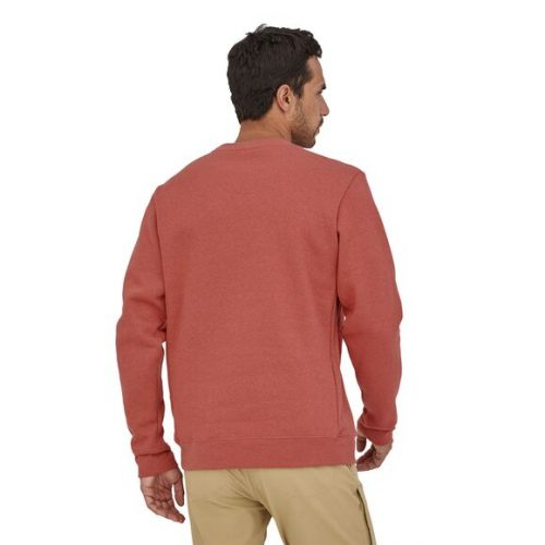 patagonia-p-6-label-uprisal-crew-sweatshirt-rosehip Available online or in store at assembly88 men's shop in Allentown, PA
