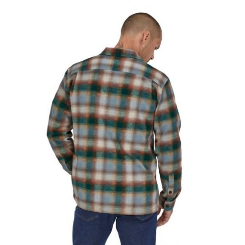 patagonia-organic-cotton-fjord-flannel-shirt-dark-borealis-green Available online or in store at assembly88 men's shop in Allentown, PA