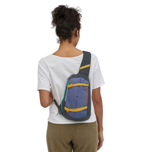 patagonia-atom-sling-8l-patchwork-smolder-blue Available online or in store at assembly88 men's shop in Allentown, PA