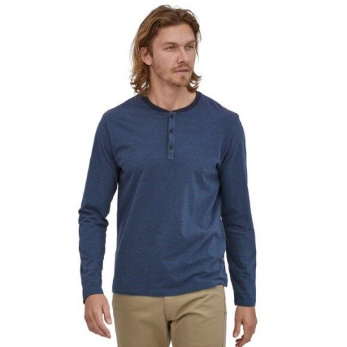 patagonia-long-sleeved-organic-cotton-lightweight-henley-pullover-stone-blue Available online and at assembly88 men's shop in Allentown, PA