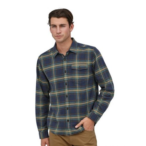 patagonia-long-sleeved-lightweight-fjord-flannel-shirt-lawrence-new-navy Available online and store at assembly88 men's shop in Allentown, PA
