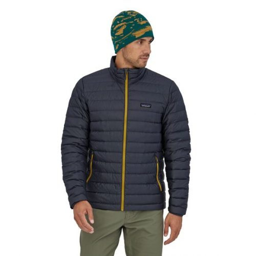 patagonia-down-sweater-jacket-smolder-blue-w-textile-green Available online or in store at assembly88 men's shop in Allentown, PA