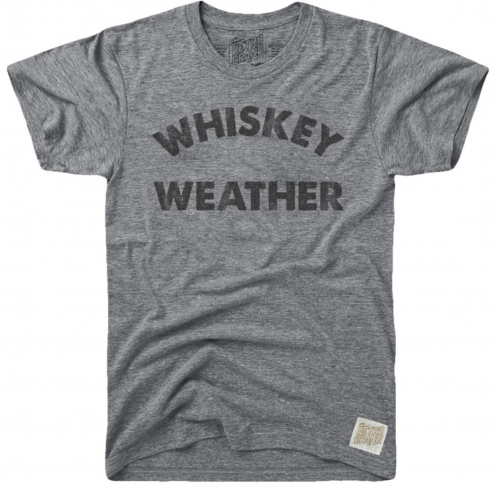 retro-brand-whiskey-weather-tri-blend-unisex-tee-heather-grey Available online or in store at assembly88 men's shop in Allentown, PA