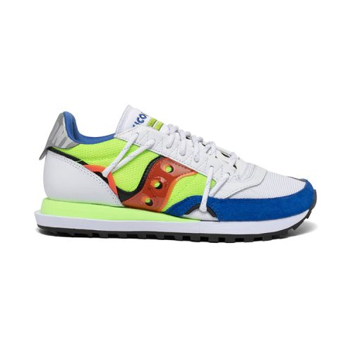 Saucony-Jaz- DST-White-Blue-mens-saucony Available online or in store at assembly88 men's shop located in Allentown, PA