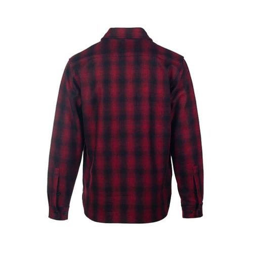 Schott Plaid 20oz Wool Blend Classic CPO Shirt Red