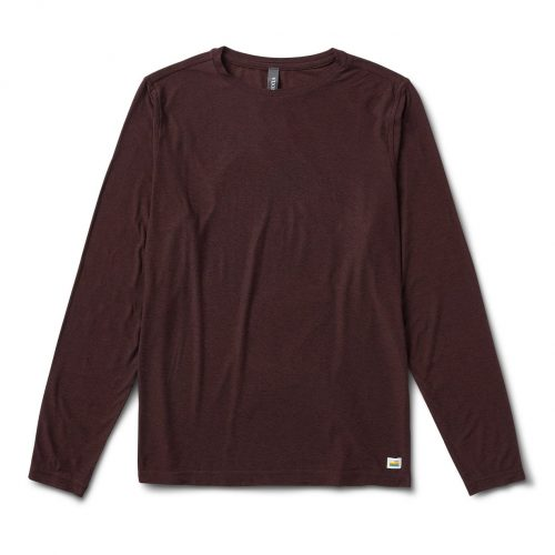vuori-long-sleeve-strato-tech-tee-oxblood-heather Available online or in store at assembly88 men's shop in Allentown, PA