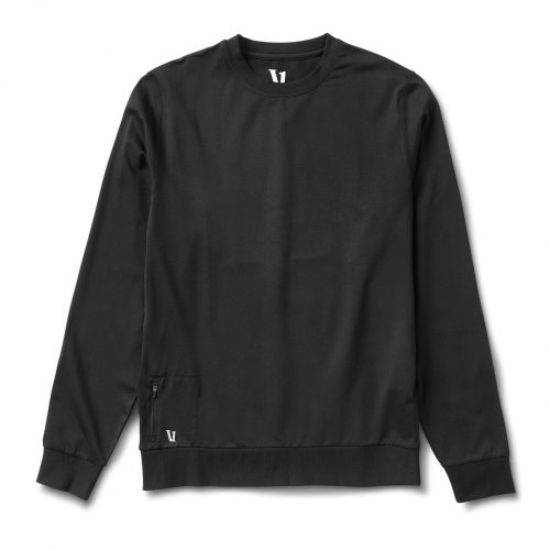 vuori-ponto-performance-crew-black-men's-shirt Available online or in store at assembly88 men's shop in Allentown, PA
