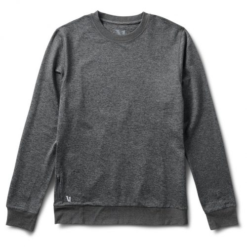 vuori-ponto-performance-crew-charcoal-heather Available online or in store at assembly88 men's shop in Allentown, PA