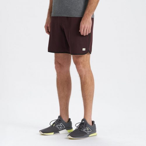 vuori-banks-short-oxblood-linen-texture Available online or in store at assembly88 men's shop in Allentown, PA