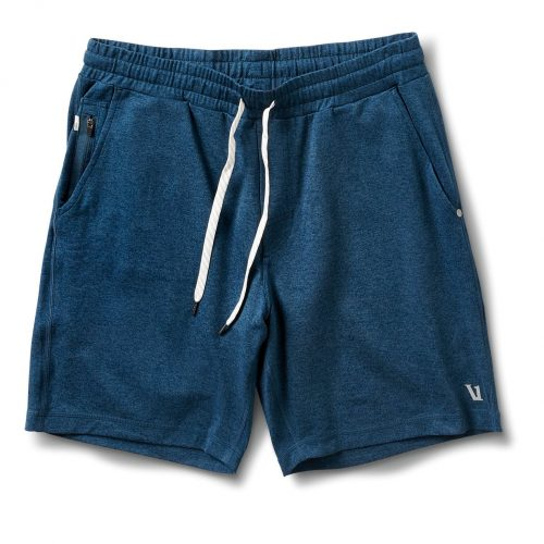 vuori-ponto-short-indigo-heather-men's-athletic-shorts Available online or in store at assembly88 men's shop in Allentown, PA