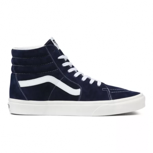 vans-pig-suede-sk8-hi-parisian-night-snow-white Available online or in store at assembly88 men's shop in Allentown, PA