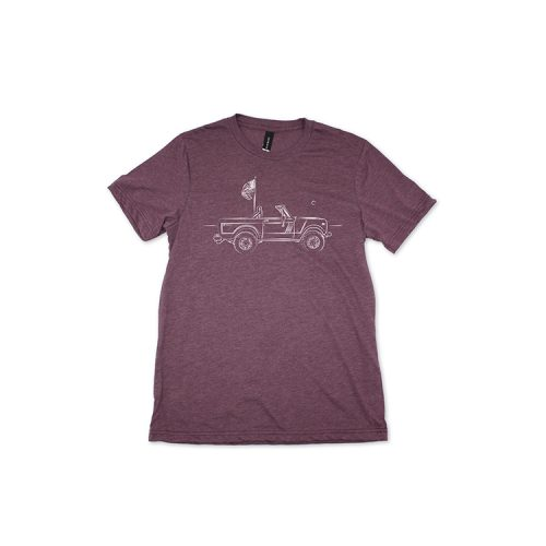 vivix-659-scout-maroon-heather-mens-tee Available online or in store at assembly88 men's shop in Allentown, PA