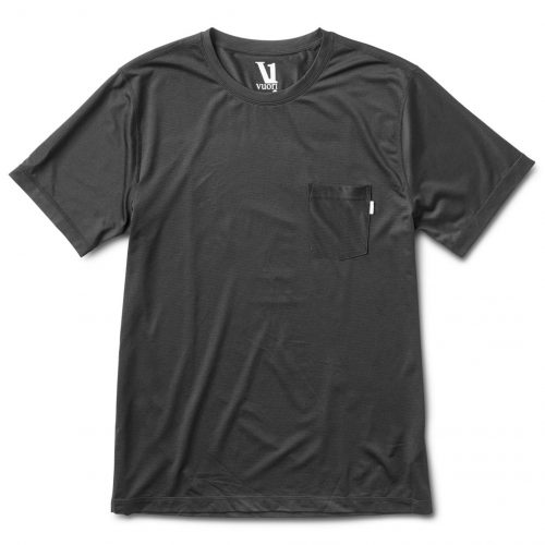 vuori-tradewind-performance-tee-black Available online or in store at assembly88 men's shop in Allentown, PA
